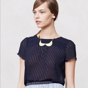 Anthropologie Maeve clip dot blouse size 4